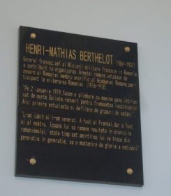 Sibiu simpiozion 1-2 noiembrie 2018 placa memoriala dedicata Generalului Berthelot inaugurata la Primaria Saliste